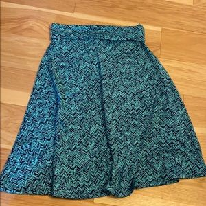 Navy and electric blue skirt